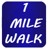 1 MILE WALK ICON