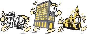 Running Buildings logo
