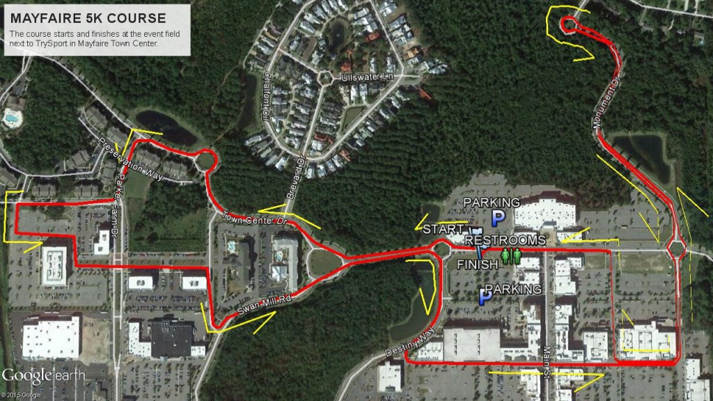 MAYFAIRE 5K COURSE map