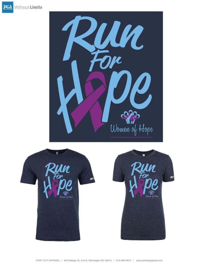 Run For Hope tshirt