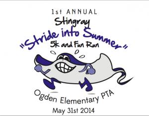 Stingray Stride Into Summer 5K Logo