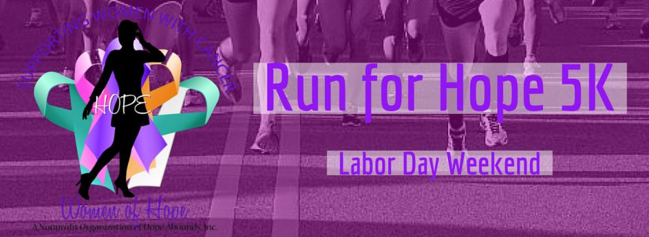 Run for Hope 5K, Sept. 5, 2015