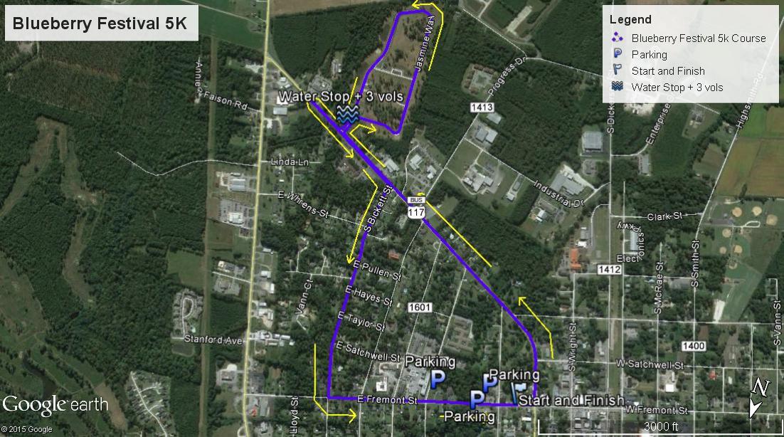 Blueberry Festival 5K map
