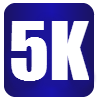 5K Distance Icon