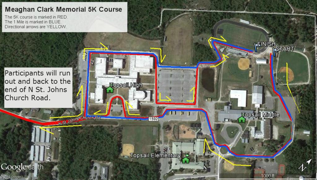 Meaghan Clark 5k course map