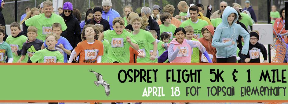 Osprey Flight 5K & 1 Mile, April 18, 2015