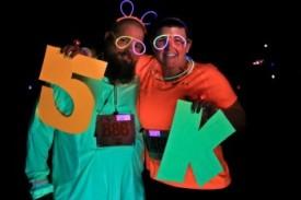 Glow Run 5K sign