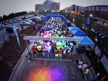 Glow Run Start Line