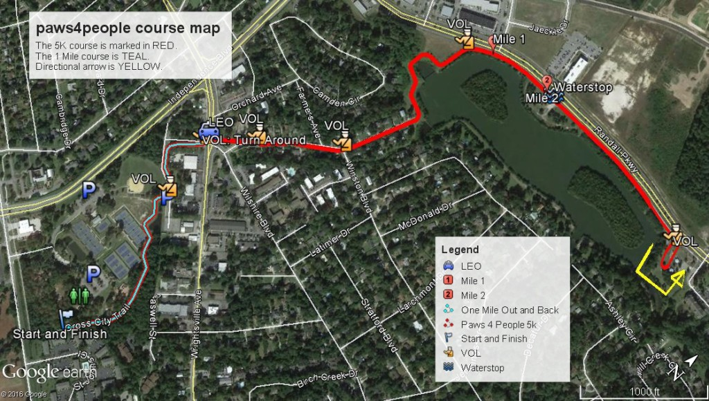 2016 paws4people course map